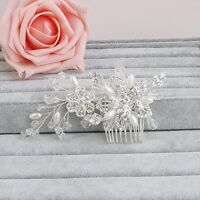 Bridal Hair Comb Pearl Crystal Headpiece Hair Clip Wedding Accessories