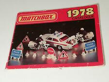 Originaler Matchbox Katalog Catalogue von 1978 USA Ausgabe