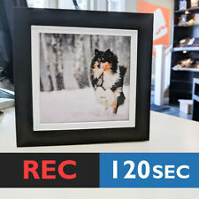 120s SQUARE PHOTO FRAME CARD (BLACK) RECORD sound music voice musical greeting