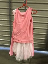ex hire fancydress costumes - 50's Lady's Pink 2 Piece Skirt & Tank Top Medium