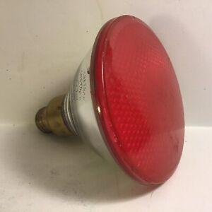Vintage Penetray 100w Projector Flood Red/Pink Par38 Light Bulb Incandescent