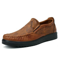 Menico Men Comfort Leather Hand Stitching Soft Casual Shoes Antiskid Moccasins