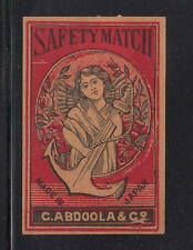 Ancienne   étiquette Allumettes Japon   AAA11062 Ancre Femme