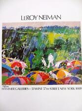 """Leroy Neiman LE Numbered Bookplate """"Hammer Galleries"""" Golf Rain Arnold Palmer"""
