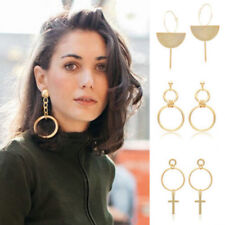 Women Fashion Big Earrings Long Round Circle Drop Dangle Earrings Trendy Jewelry