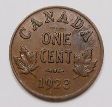 1923 Small Cent F+ RARE Date 2nd LOWEST Mintage King George V KEY Canada Penny