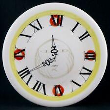 """Assiette """"Trompe l'Oeil Horloge"""" ROGER CAPRON Céramique VALLAURIS 50/60/jouve..."""