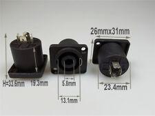 2 Pcs SPEAKON 4 Pole Audio Cable Connector Female Jack Compatible Black