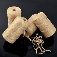 100M Natural Brown Jute Burlap Twine Sisal Rustic Style String Shabby Cord Craft