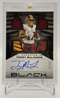 2020 Panini Black Capstones Terry McLaurin 4 patch #'d/50 on Card Auto 4 Memo