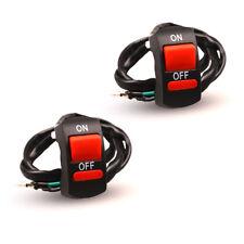 Light Kill Stop Switch ON/OFF Button Handlebar Motorcycle Switch ATV Bike AU