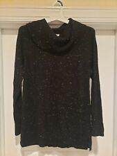 Calvin Klein Women's Black Turtle Neck Stretch Sweater Size M