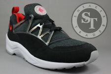 NIKE AIR HUARACHE LIGHT 306127-006 BLACK UNIVERSITY RED WOLF GREY DS SIZE: 8