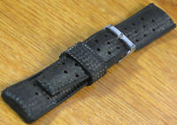 Genuine Tropic Dive Watch Band Black 18mm Swiss NOS Straight Ends 1960s/70s