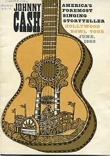 1963 Johnny Cash concert program Hollywood Bowl