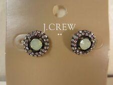 J.Crew Crystal Opal Stud Earrings NWT $19.50 item B0380