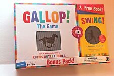 "Gallop! The Game & Preschool Book ""Swing!"" Scanimation by Rufus Butler Seder NEW"