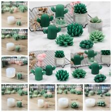 Cacti Succulent Candle Mold Moulds Soap Molds DIY Craft Plaster Silicone Molds