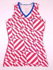 Nike Pro Dri Fit Fitted Red White Blue Tank Shirt Size M Medium Women's