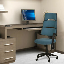Vinsetto High Back Office Chair Work Executive 360 Swivel Ergonomic Modern Blue