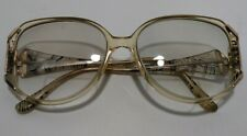 Vtg Marcolin Eyeglasses Prescribed Bifocal Plastic Black Gold Zebra Stripe Frame