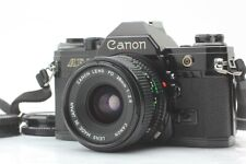 [EXC+5] Canon AE-1 BLACK 35mm SLR w/ New FD NFD 28mm F/2.8 Lens From JAPAN
