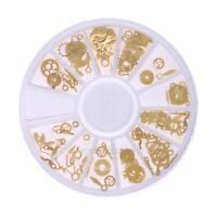 3D Nail Art Rhinestones Glitters Studs Acrylic Tips Decoration Manicure Wheel