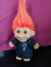 "Russ Troll Priest or Padre or Preacher - 5"" Flaming Orange Hair Euc"
