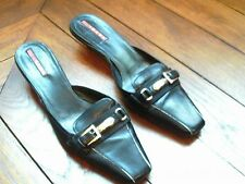 Authentic Prada black leather loafer mules size EU 36 / UK 3, great condition