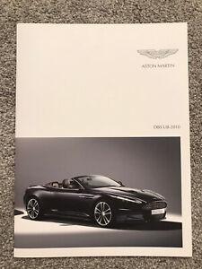 2010my Aston Martin DBS UB-2010 Coupe Volante GLOSSY Brochure Prospekt 704658