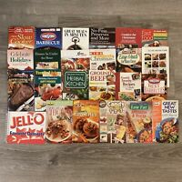 Lot Of 24 Mini Cookbooks Recipe Booklets Magazines Betty Crocker Land Lakes