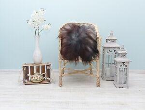 NATURAL Sheepskin Pillow, Real Long Soft Hair Cushions, Genuine Sheepskin Pads