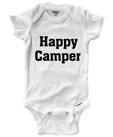 Happy Camper Infant Gerber Onesies Bodysuit Clothes Rib Baby Gift Camp Camping
