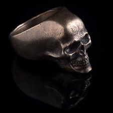 Human Skull Ring, brass, size US 10.25 / 20 mm, handmade