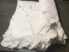 Shabby Chic Solid White Twim Comforter Ruffled Cottage