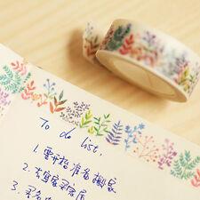 Herbaceous Plant Washi Tape Masking Adhesive DIY Decoration Scrapbooking Planner