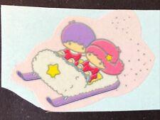 1 Vintage 80'S Sanrio Little Twin Stars Snow Fun Sticker 1 X 1 1/2