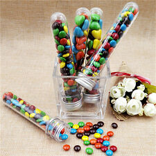 20XPlastic Party Test Tubes W/ Metal Cap Stoppers Wedding Party Candy Storage