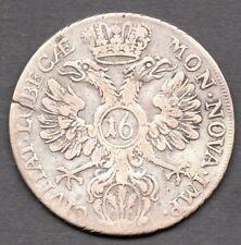 1752 - LUBECK - 16 SCHILLING SILVER COIN - 1/2 THALER
