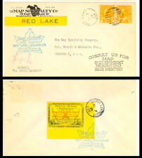 """Canada CL13b Small """"t"""" in """"to"""" Var. Red Lake to Sioux Lookout Advertising Cover"""