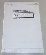 Taller de libro de mano vw golf iv/4/bora carrocería operaciones de montaje exterior 11/1998