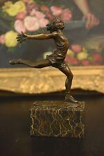 Signed Milo Bronze runner Sculpture Figurine Bronze Statue Final sprint success!