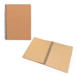 Notizblock 2er Set, aus feinem gut beschreibbarem Kraftpapier, Naturpapier, A5