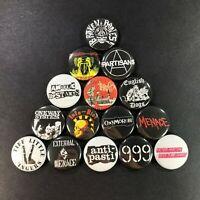 "Classic Street Punk 1"" Pin Set (15 Buttons) Broken Bones Oxymoron Threats Menace"