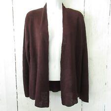 New $178 Eileen Fisher Cardigan Sweater M Medium Petite Organic Linen Casis