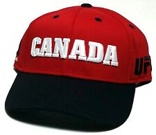 2d127752abcc1f UFC Reebok MMA Red Black White Canada Country Pride Snapback Adjustable Hat  Cap