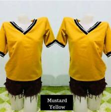 V Neck Top F10 (Mustard Yellow)