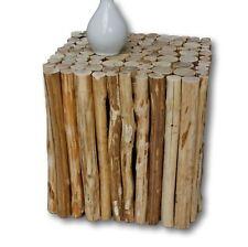 Tabouret Marron Maison de Campagne Table d'appoint en bois Urban massif