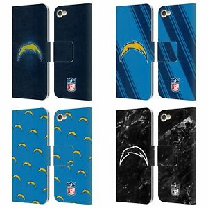 NFL LOS ANGELES CHARGERS ARTWORK LEATHER BOOK CASE FOR APPLE iPOD TOUCH MP3