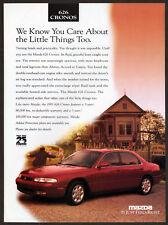 1996 MAZDA 626 Cronos Vintage Original Print AD - Red car photo english canada